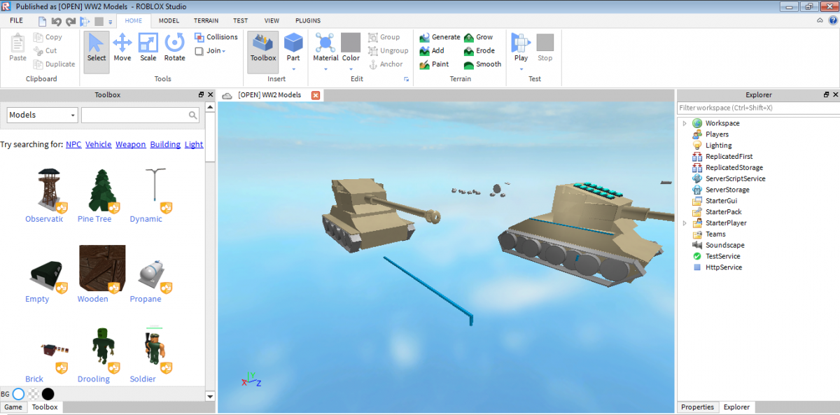 Making a tank game with ROBLOX Studio - General Gaming - Tanktastic