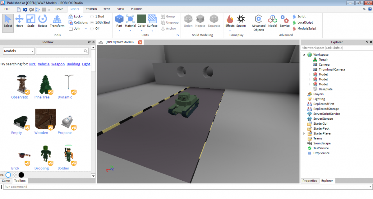 Making a tank game with ROBLOX Studio - General Gaming